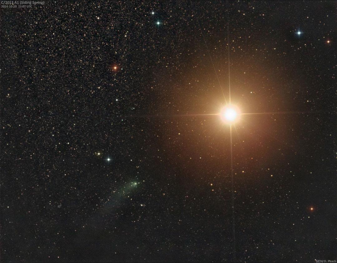 Comet Siding Spring Passes Mars