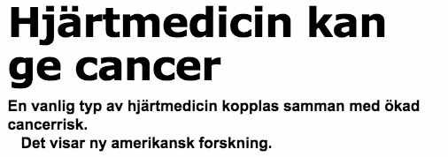 Bukfett kan ge cancer